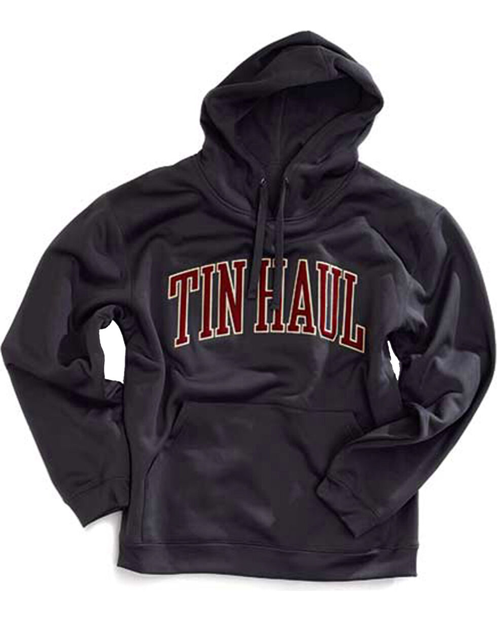 Tin Haul Men's Logo Applique Fleece Hoodie, Grey, hi-res