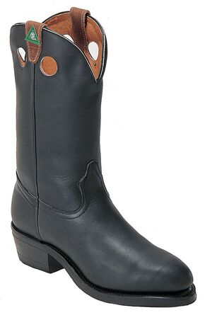 Boulet Pull-On Work Boots - Steel Toe, Black, hi-res