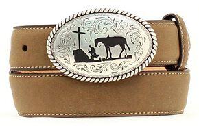 Nocona Cowboy Prayer Belt, Brown, hi-res
