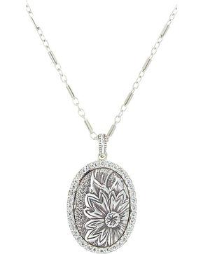 Sterling Lane Women's Wild Rose Vignette Necklace , Silver, hi-res