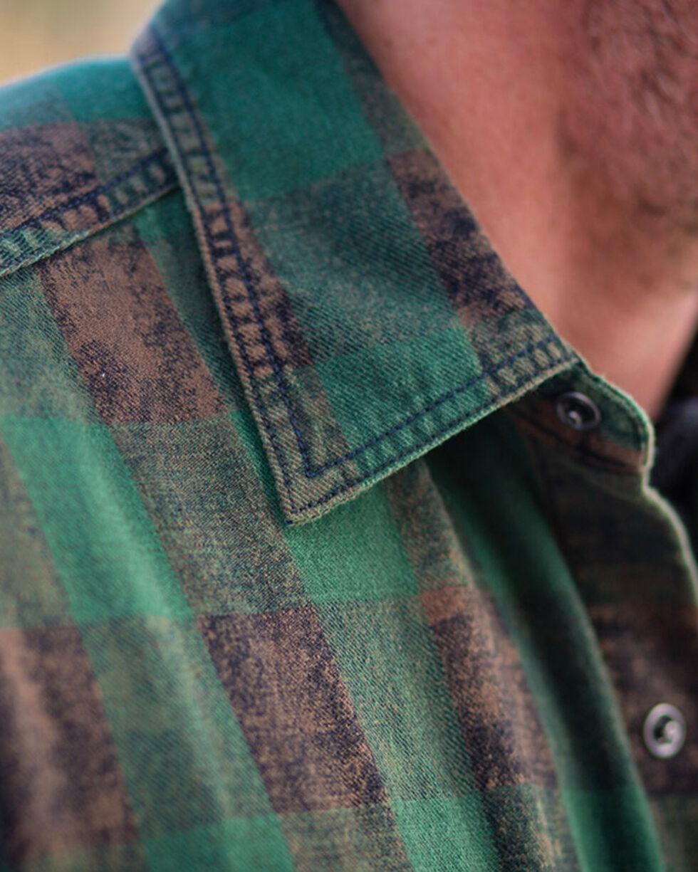 Ryan Michael Men's Ranger Distressed Buffalo Check Shirt , Green, hi-res