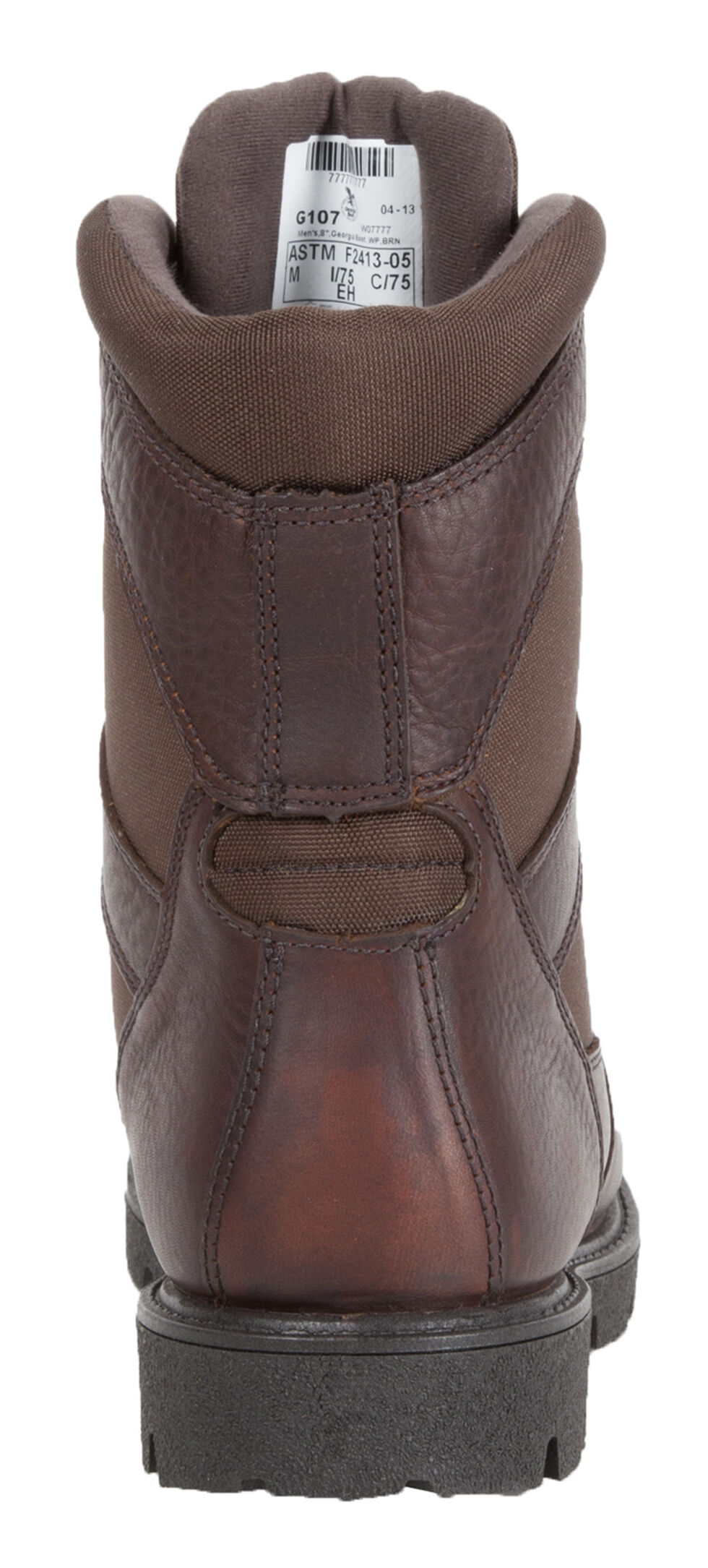 "Georgia Homeland 8"" Insulated Waterproof Work Boots - Round Toe, Brown, hi-res"