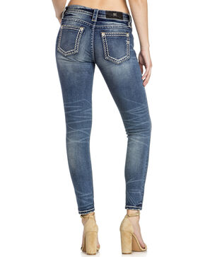 Miss Me Women's Faux Flap Pocket Skinny Jeans, Indigo, hi-res
