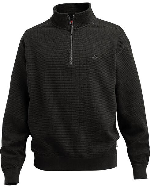 Wolverine Men's Black Denton Thermal Quarter Zip Shirt, Black, hi-res
