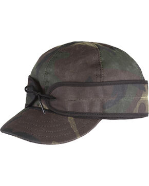 Stormy Kromer Men's Woodland Camo Waxed Cotton Cap , Camouflage, hi-res