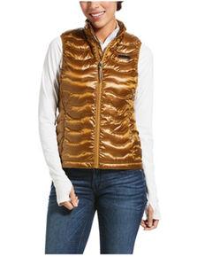 Ariat Women's Bronze Brown Ideal 3.0 Down Vest , Brown, hi-res