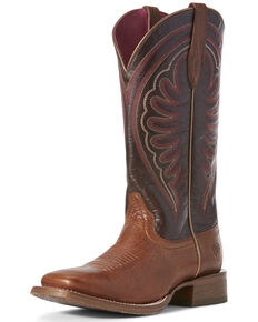 Ariat Women's Circuit Shiloh Nomad Western Boots - Wide Square Toe, Brown, hi-res