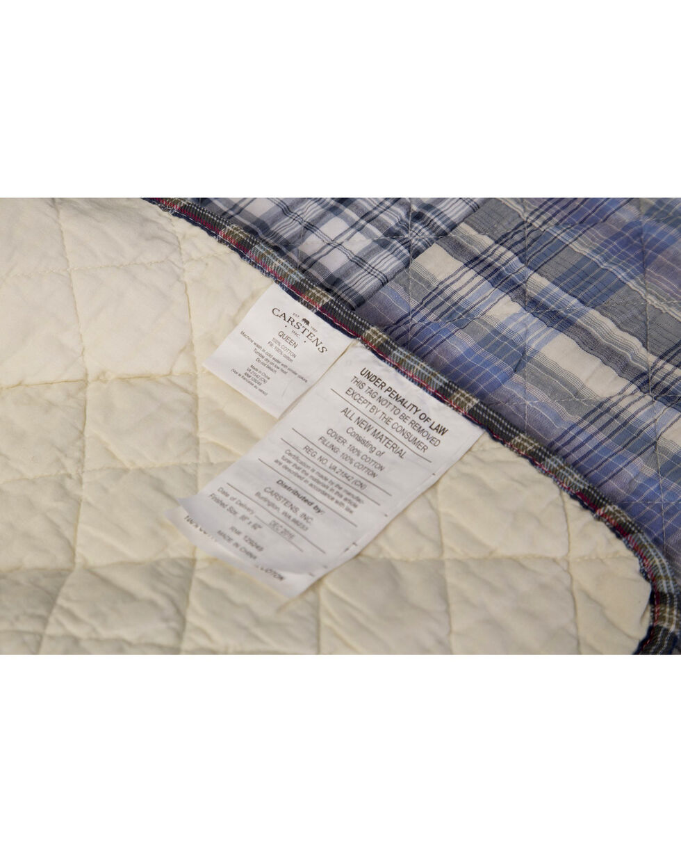 Carstens Ranch Hand Queen Quilt , Blue, hi-res