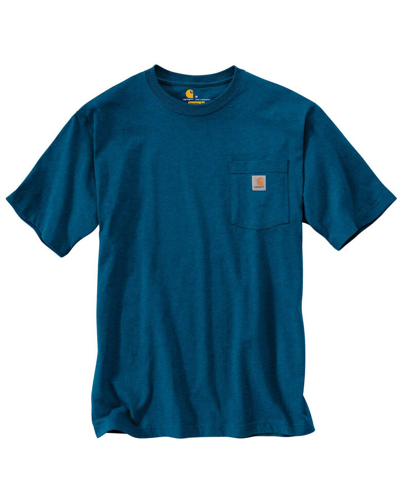 Carhartt Men's Workwear Pocket Short-Sleeve Work T-Shirt - Big , Heather Blue, hi-res