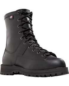 "Danner Men's Black Recon 8"" Uniform Boots - Round Toe , Black, hi-res"