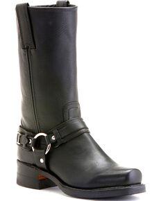 Frye Women's Belted Harness Boots, Black, hi-res