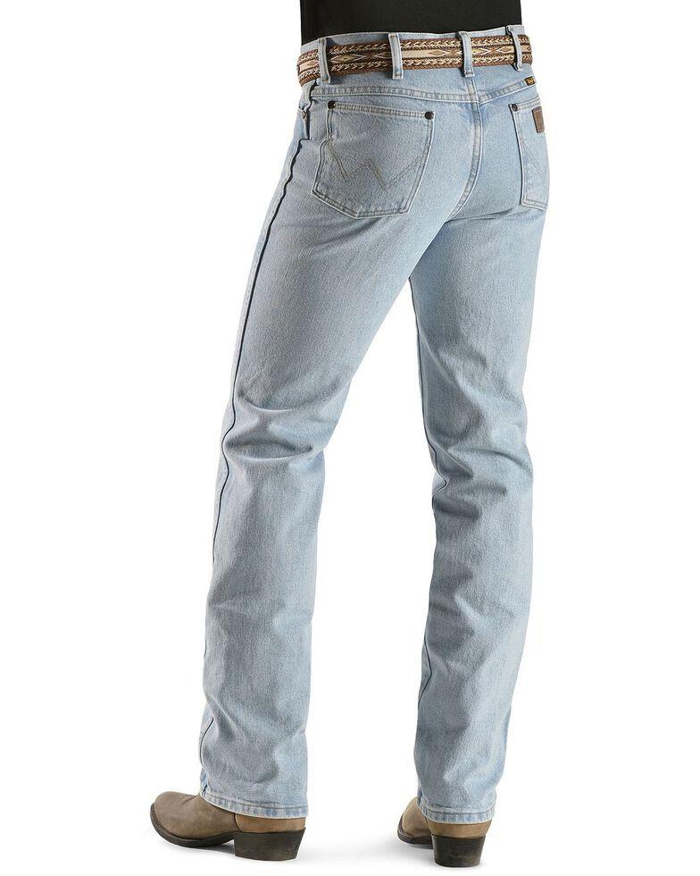 "Wrangler 936 Cowboy Cut Slim Fit Prewashed Jeans - 38"" Inseam, Bleach Indigo, hi-res"