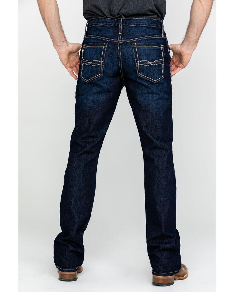 Cinch Men's Ian Medium Rinse Mid Slim Bootcut Jeans , Indigo, hi-res