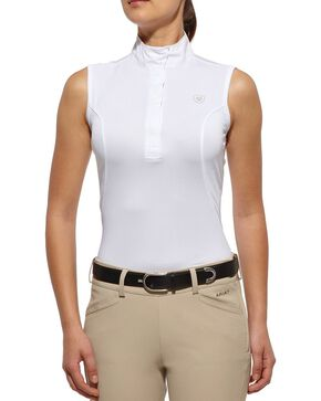 Ariat Women's Aptos Sleeveless Show Top, White, hi-res