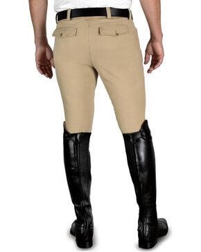 Ariat Men's Heritage Front Zip Riding Breeches, Beige, hi-res