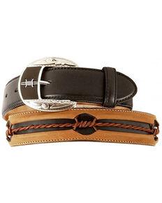 Justin Barbed Wire Belt, Black, hi-res