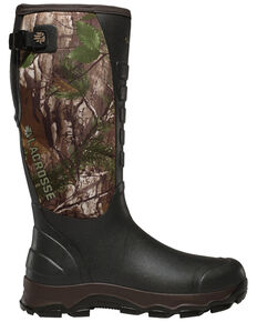 LaCrosse Men's 4xAlpha Realtree Rubber Boots - Round Toe, Camouflage, hi-res
