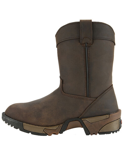 Rocky Youth Boys' Aztec Pull-On Boots, Brown, hi-res