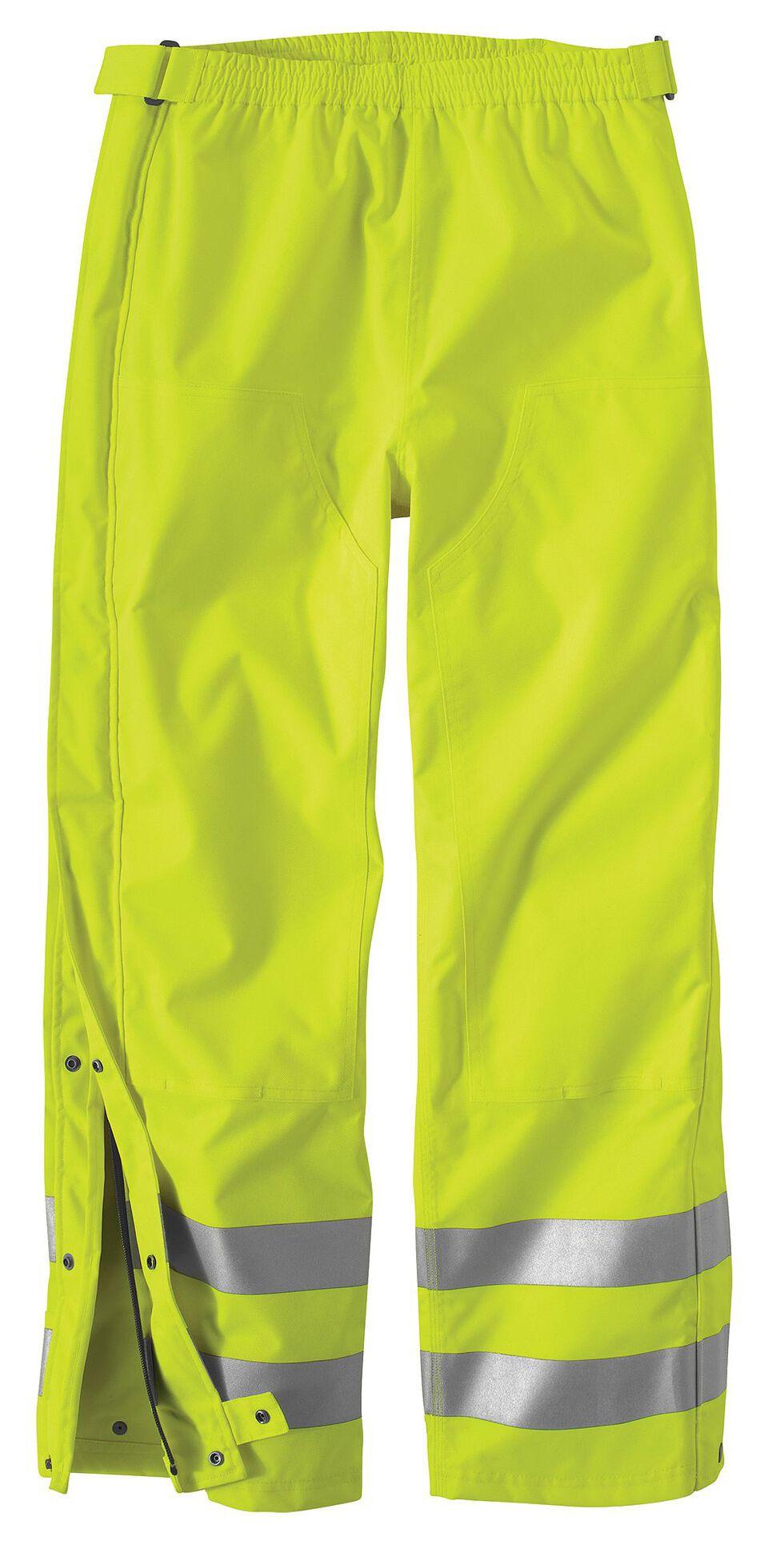 Carhartt High-Visibility Class E Waterproof Pants - Big & Tall, Lime, hi-res