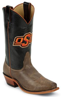 Nocona Women's Oklahoma State University College Boots - Snip Toe, Tan, hi-res