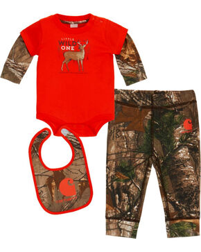 Carhartt Infant Boys' Camo Wild One 3 Piece Set , Camouflage, hi-res