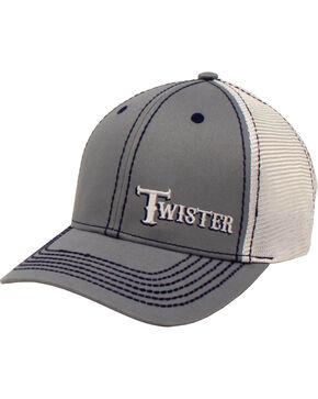 Twister Men's Grey Offset Text Baseball Cap , Grey, hi-res