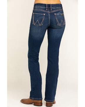 Wrangler Retro Women's Indigo W Back Pocket Mae Jeans - Boot Cut , Indigo, hi-res
