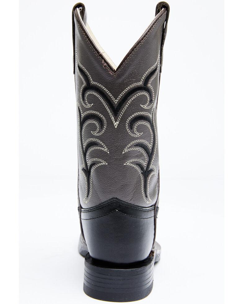 Old West Kids' Colorful Western Cowboy Boots - Square Toe, Black, hi-res