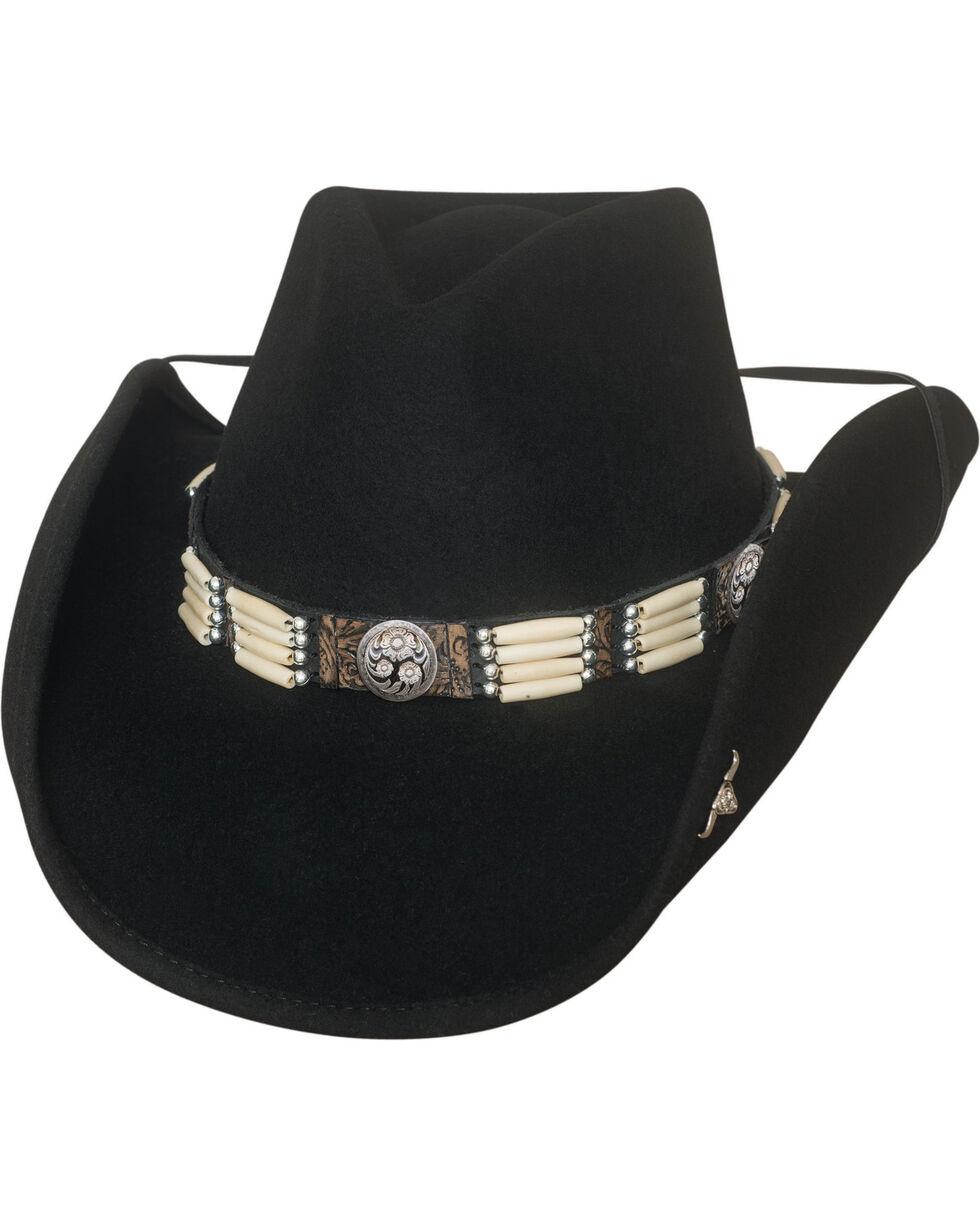 Bullhide Lakota Premium Wool Hat , Black, hi-res