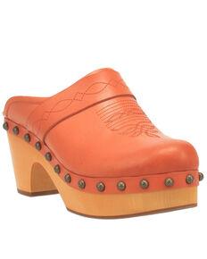 Dingo Women's Latigo Clog Shoes, Brown, hi-res