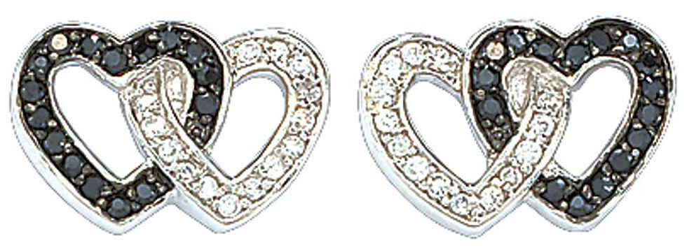 Montana Silversmiths Double Heart Earrings, Silver, hi-res
