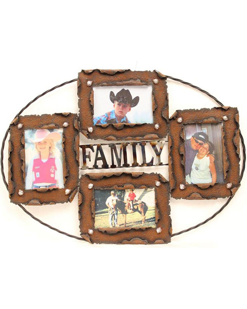 Western Moments Rustic Family Collage Photo Frame, Brown, hi-res
