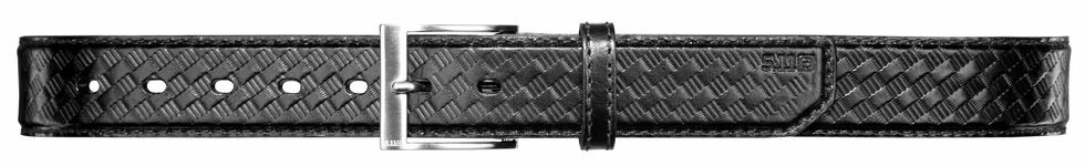 5.11 Tactical Leather Basket Weave Belt, Black, hi-res