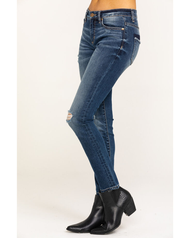 Miss Me Women's Distressed Skinny Jeans, Blue, hi-res
