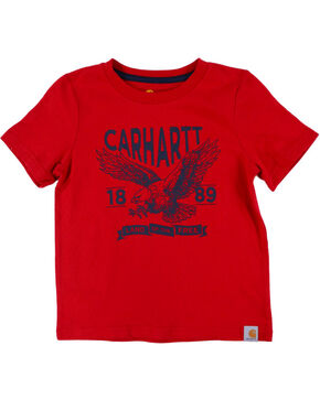 Carhartt Boys' Red Land Of The Free T-Shirt , Red, hi-res