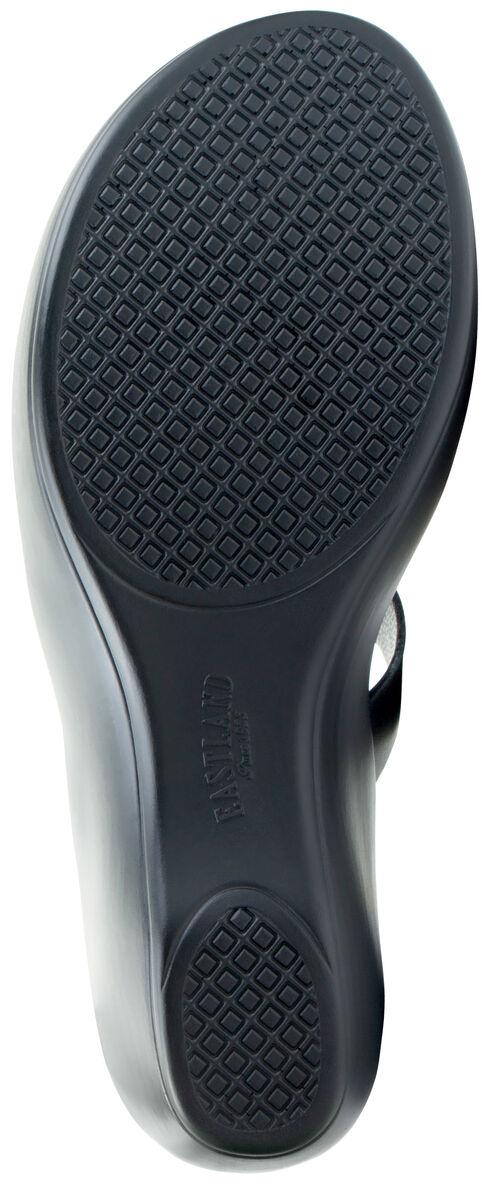 Eastland Women's Black Laurel Wedge Thong Sandals, Black, hi-res