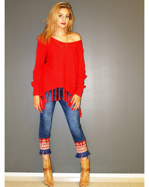 Angel Premium Women's Red Stevie Sweater , Red, hi-res