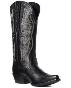 Ariat Women's Heritage Black Western Boots - Snip Toe, Black, hi-res