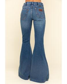 Wrangler Retro Women's Gabriella Trumpet Flare Jeans , Blue, hi-res