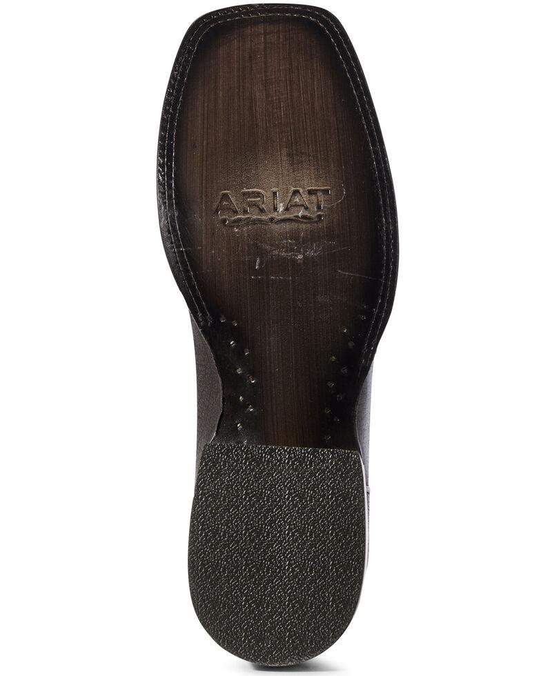 Ariat Men's Herd Boss Western Boots - Wide Square Toe, Black, hi-res
