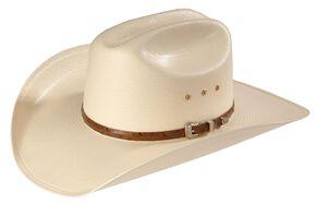 Larry Mahan Men's 10X Jericho Straw Cowboy Hat, Ivory, hi-res