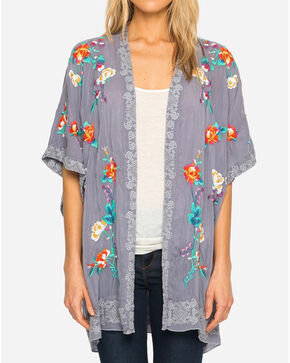 Johnny Was Women's Steel Blue Calla Kimono, Blue, hi-res