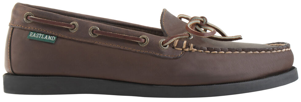 Eastland Women's Bomber Brown Yarmouth Camp Moc Slip-Ons, Brown, hi-res