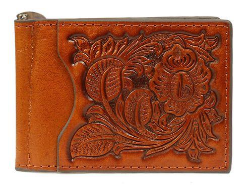 Nocona Pro Money Clip Bi-Fold Wallet, Tan, hi-res