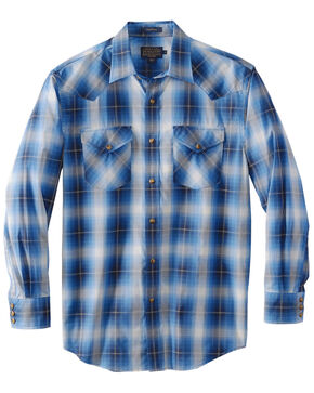 Pendleton Men's Frontier Ivory Plaid Long Sleeve Western Shirt , Ivory, hi-res