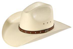 Larry Mahan Browning 10X Straw Cattleman Cowboy Hat, Ivory, hi-res