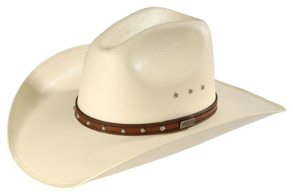 Larry Mahan Browning 10X Straw Cattleman Cowboy Hat, Ivory, hi-res