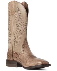 Ariat Men's Caprock Western Boots - Square Toe, Brown, hi-res