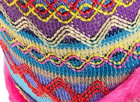 Blazin Roxx Women's Colorful Woven Slipper Booties, Pink, hi-res