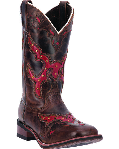 Laredo Women's Paprika Cowgirl Boots - Square Toe, Brown, hi-res